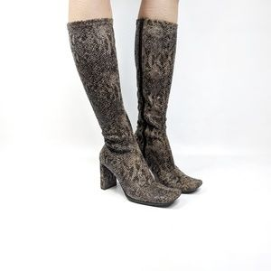 CHINESE LAUNDRY Glamour faux snakeskin sock boot